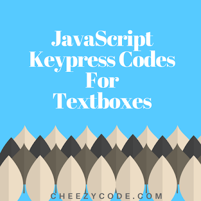 textboxes with keypress restriction, only alphabets,only number cheezycode