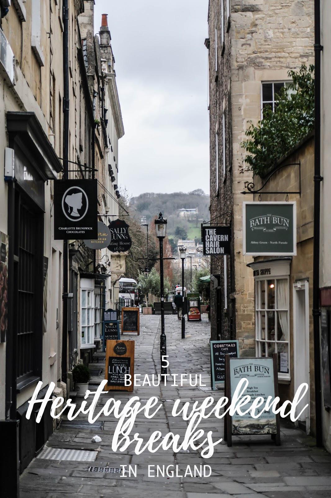 5 beautiful heritage weekend breaks in England