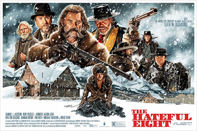 The Hateful Eight Screen Print by Jason Edmiston x Mondo