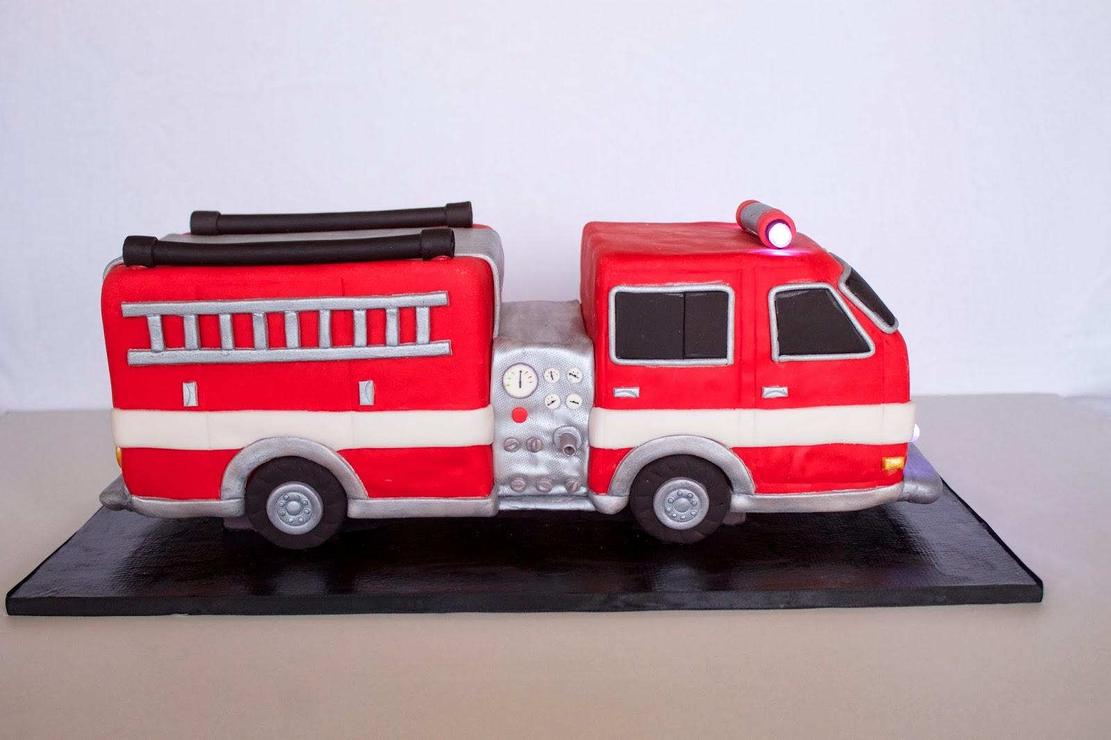 Sara Elizabeth - Custom Cakes & Gourmet Sweets: 3D Fire Truck Cake Tutorial