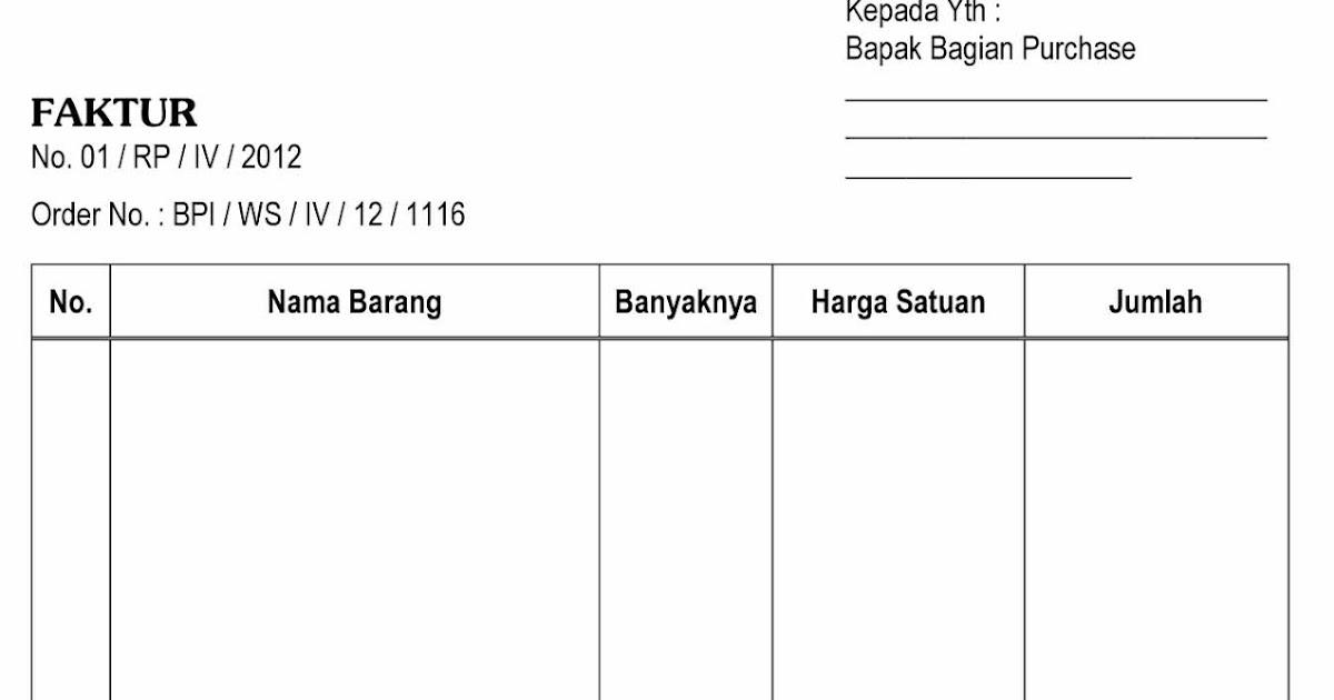 Download Contoh Faktur Surat Jalan dan Kwitansi
