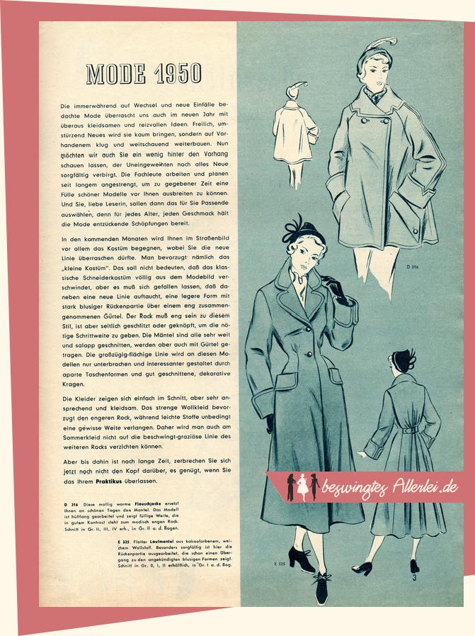 Beswingtes Allerlei Praktikus Modenblatt Für Die Hausfrau 011950