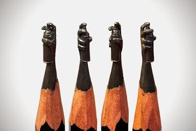 Micro Escultura lata para graffiti en la punta de un lápiz