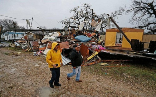 Tornado damage in Tolar, Hood County, Texas