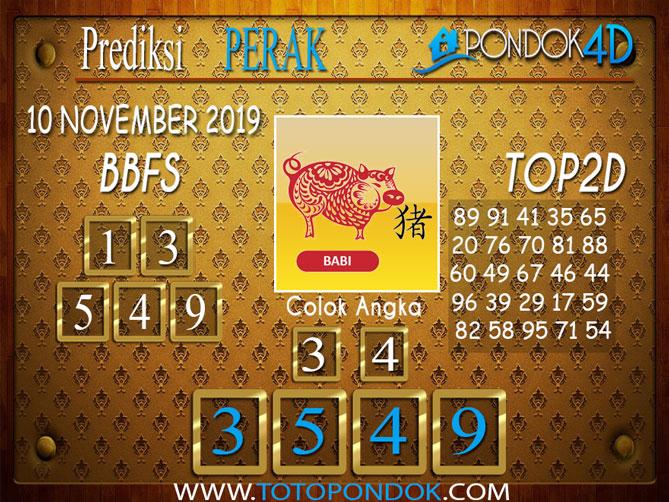Prediksi Togel PERAK PONDOK4D 10 NOVEMBER 2019