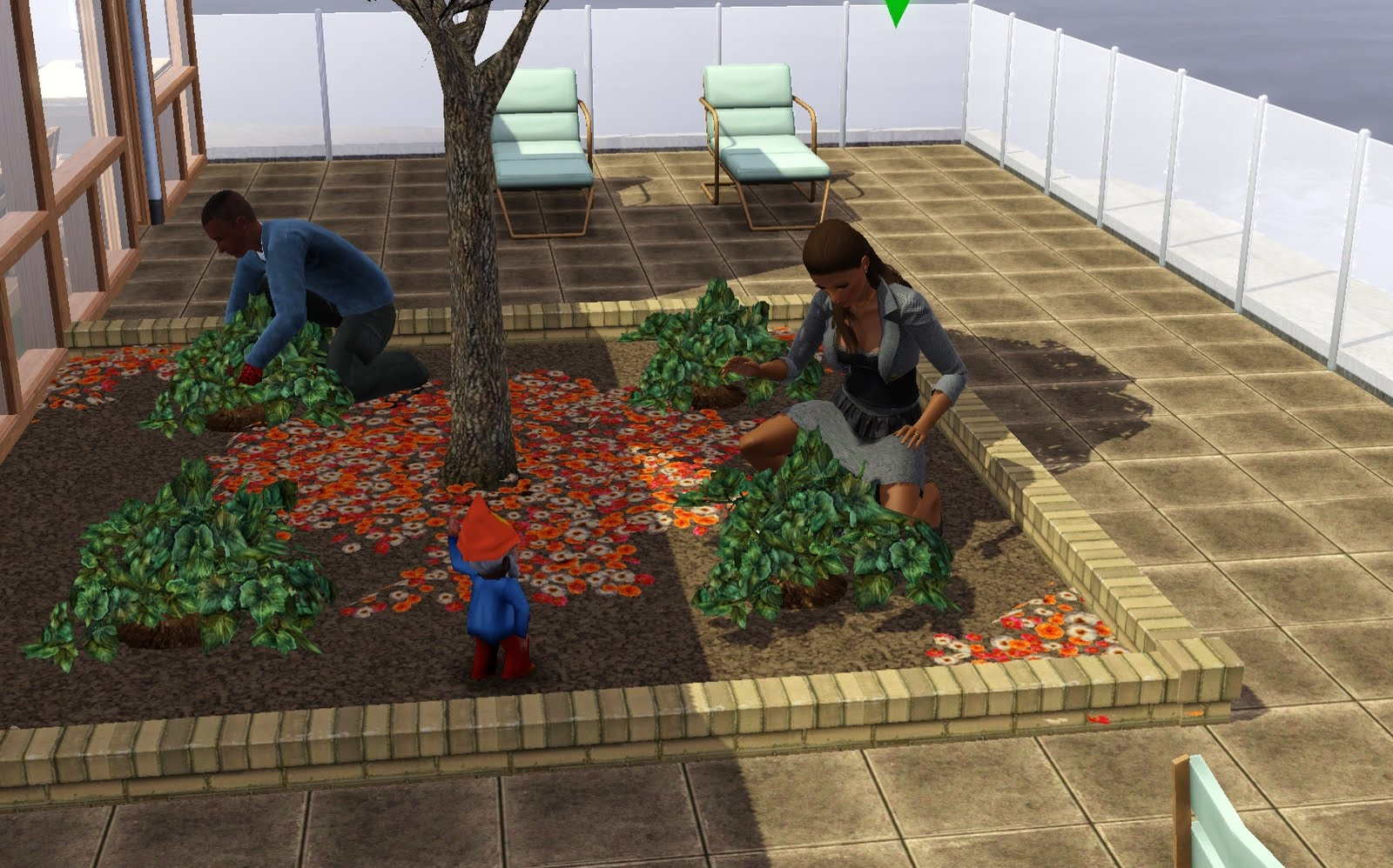Summer's Little Sims 3 Garden: How To Build a Rooftop or ...