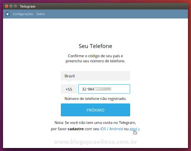 Crie uma nova conta no Telegram através do Telegram Desktop