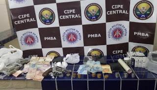 Tráfico de drogas e porte ilegal de arma