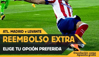 betfair reembolso 25 euros Atletico de Madrid vs Levante 3 enero