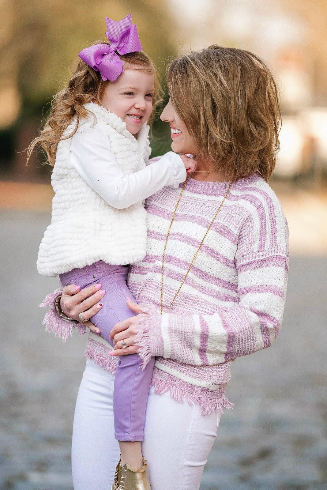 Lavender Love: Mommy & Me Pre-Spring Look - Something Delightful Blog