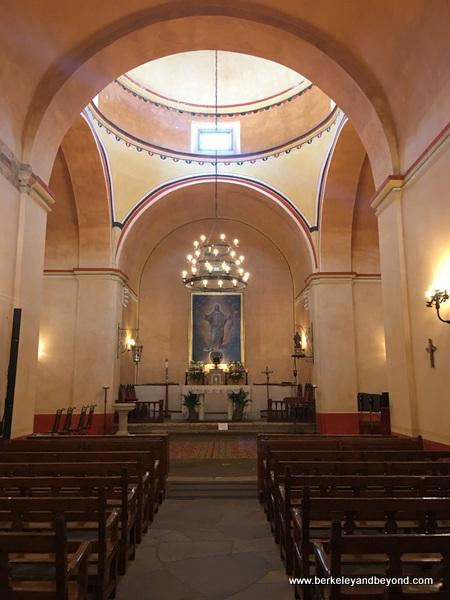interior of church at Mission Concepcion in San Antonio Missions National Historical Park in San Antonio, Texas