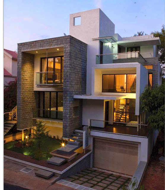 Contemporary Home Exterior Design Ideas: Modern Residences Exterior Small Villas Designs Ideas
