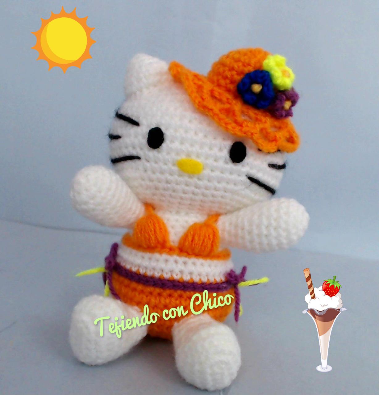 Free Crochet Hello Kitty Amigurumi - Caveat: pattern is translated ... | 1279x1228