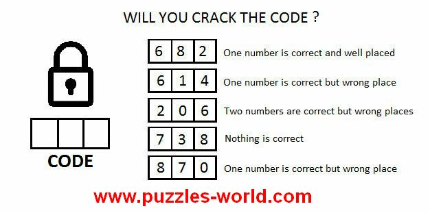 Will You Crack The Code 6 8 2 One Number Is Correct And Well