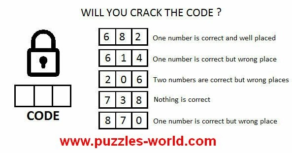 Will You Crack The Code 6 8 2 One Number Is Correct