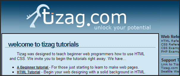Tizag html php