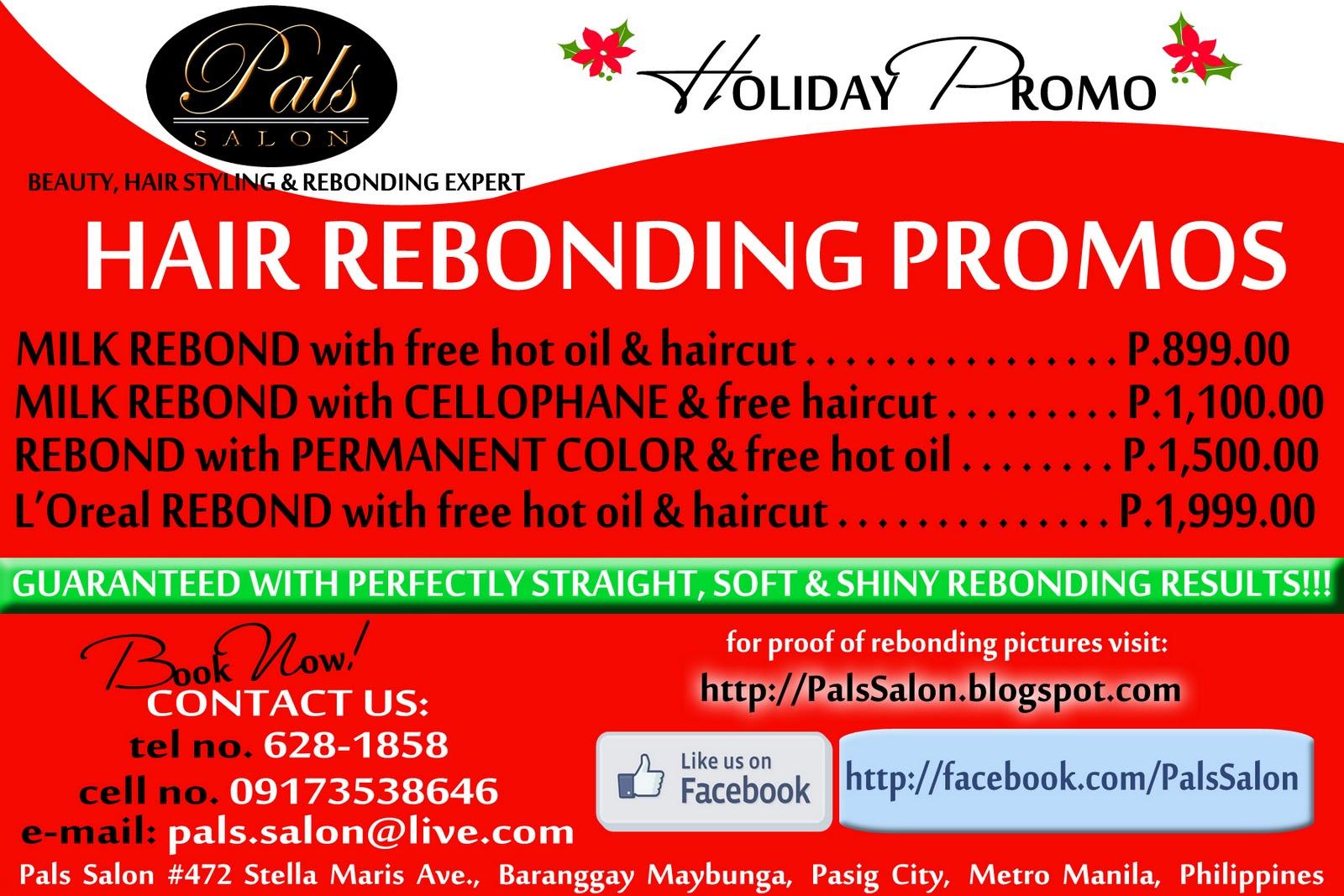 pals salon pals salon holiday promo. Black Bedroom Furniture Sets. Home Design Ideas