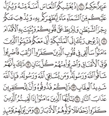 Tafsir Surat Al-Anfal Ayat 11, 12, 13, 14, 15