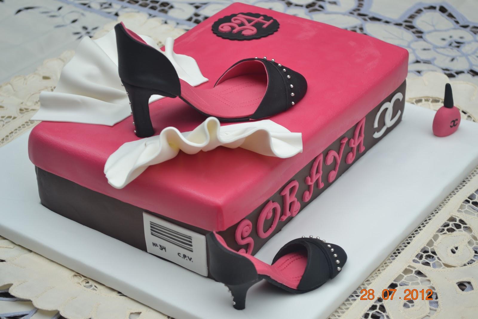 Dulcemielcake Reposteria Creativa Tarta Caja Zapatos Para Soraya - Tartas-de-cumpleaos-para-mujeres