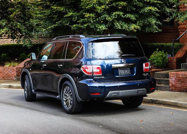 Rear 3/4 view of 2018 Nissan Armada Platinum Reserve 4WD