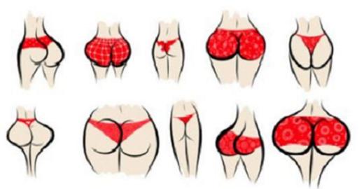 Ce que la forme de vos fesses dit sur vous ! Vous allez être très surpris !