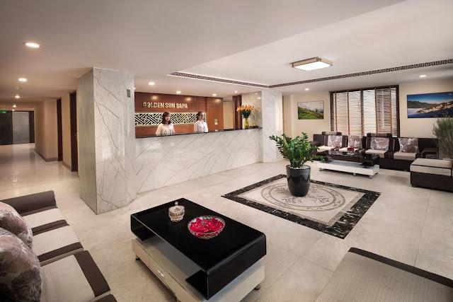 sảnh khách sạn sapa golden villa sapa