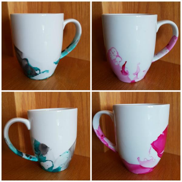 nail polish mugs | DevotedQuilter.blogspot.com