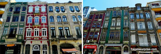 Azulejos nas fachadas do Porto, Portugal