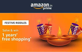 All Answers of Amazon FESTIVE RIDDLES - Win 1 years' free shopping (Worth Rs.50000/-)