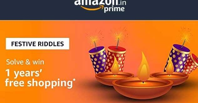 All Answers Of Amazon Festive Riddles Win 1 Years Free Shopping Worth Rs 50000