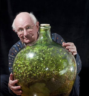 david latimer with his bottle garden