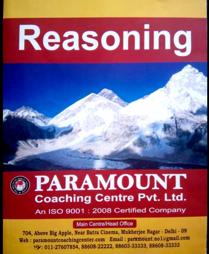 Ssc Reasoning Pdf In English