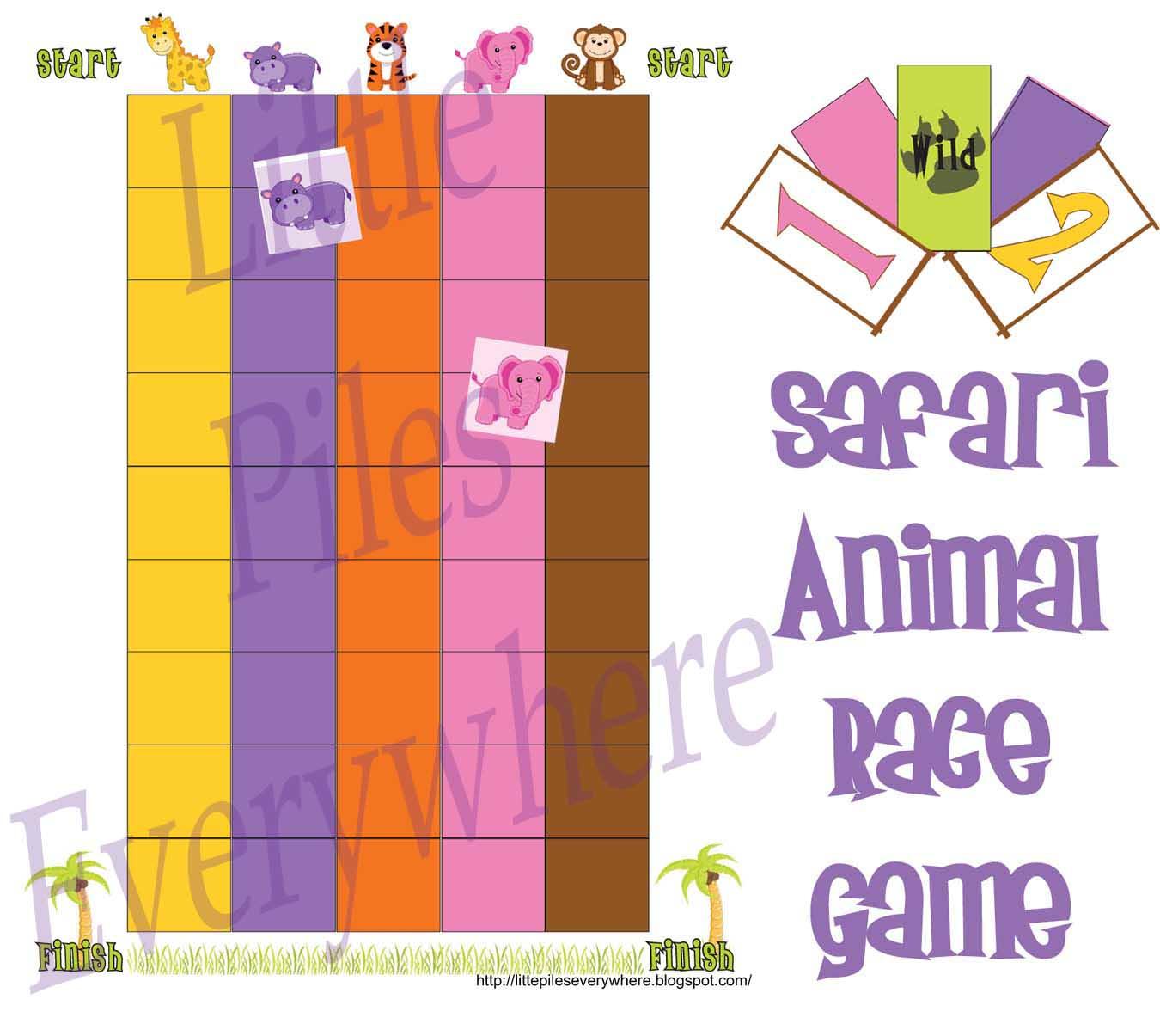 Little Piles Everywhere Safari Animal Race Game