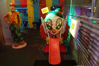 A scary Clown's Mouth at Junkyard Golf's London course