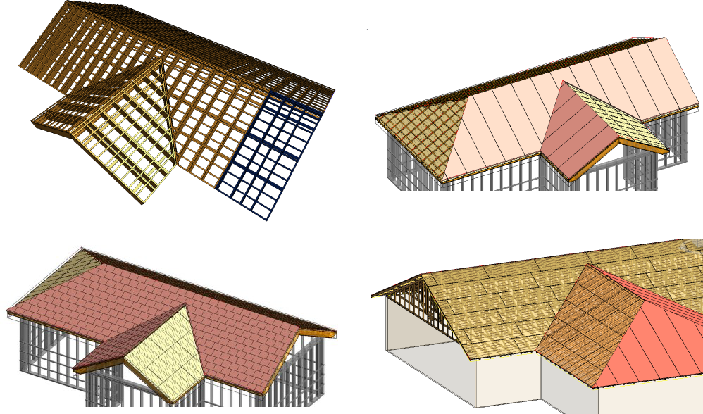 Revit add ons roof panel frame prefabricated wood for Prefabricated roof