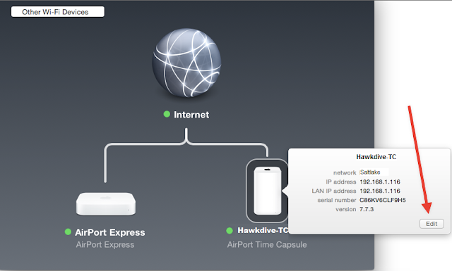 Edit Airport Time Capsule Using Airport Utility