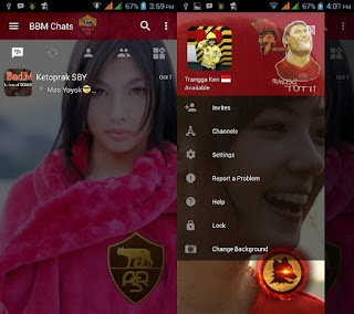 BBM MOD As Roma Transparan Terbaru with Change Background