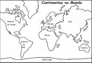 Continentes do mundo e a copa