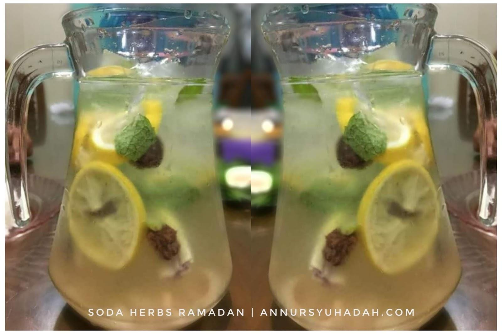 Cara Mudah Buat Air Soda Herbs Original – Fresh! Ada Lemon, Serai, Asam Boi dan Pudina. Resepi soda herbs, air soda laici sedap, air soda laici lemon serai,