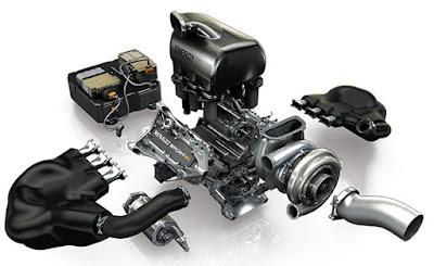 Esploso motore Renault V6 turbo F1 2014