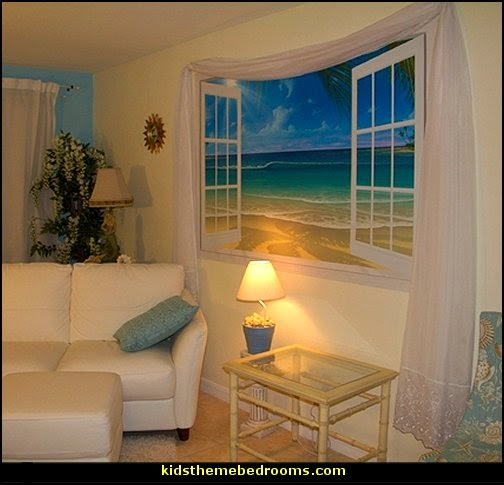 creative windows - window decorations - window wallpaper - window murals - curtains - decorative window decor - creative doors - cornice boards -  faux windows - fake windows - window cornice decorating