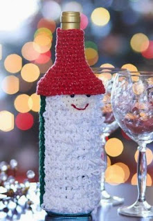 http://www.yarnspirations.com/patterns/gnome-for-the-holidays-wine-bottle-cozy.html