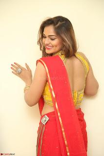 Actress Ashwini in Golden choli Red saree Spicy Pics ~  077.JPG
