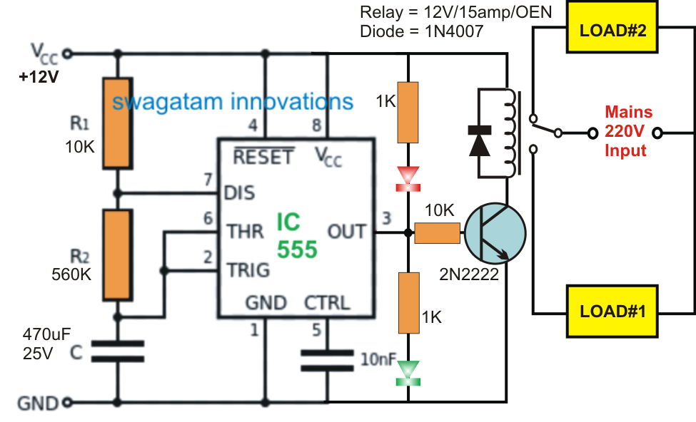 ab alternating relay wiring diagram circuit diagram alternating relay switch alternate switching relay timer circuit