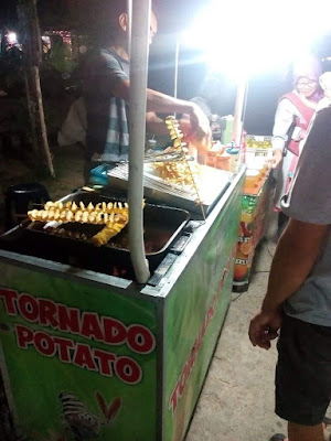 Jajanan Pasar Malam Samarinda Kentang tornado