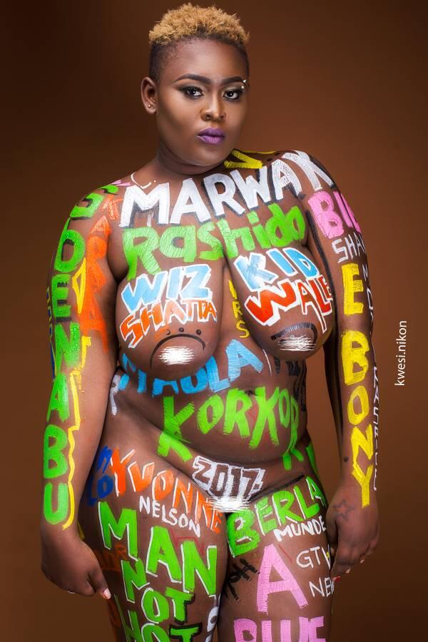 Nude Ghanaian Model, Ama Richest