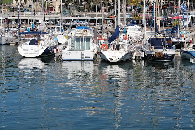reflections in Funchal Marina