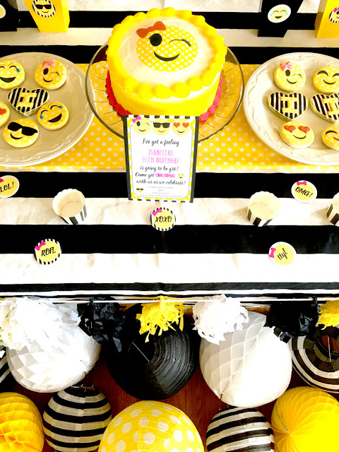 Emoji Themed Birthday Party Desserts via Pretty My Party