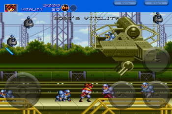 Gunstar Heroes classic shooter game for iPhone released by SEGA on the App Store