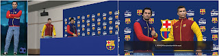 PES 2017 Barcelona Jackets and Press Conference Room